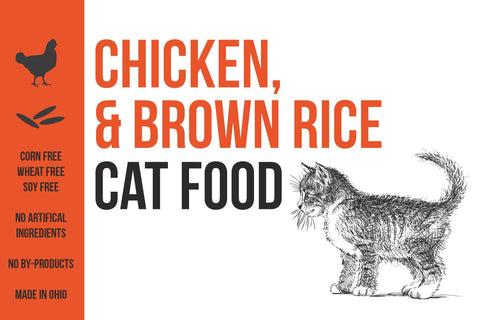 Cat Food: Chicken & Brown Rice (New name, same recipe!)