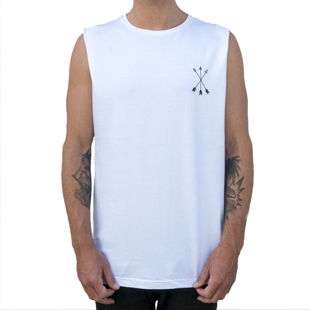 Jungle Cat Tank - Organic - White