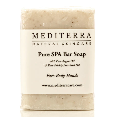 MEDITERRA Pure SPA Bar Soap: Argan Oil & Prickly Pear Seed Oil