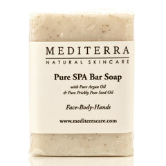 MEDITERRA Pure SPA Bar Soap: Argan Oil & Prickly Pear Seed Oil - Mediterra