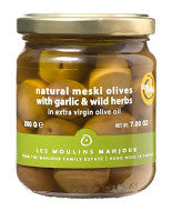 Meski Olives with Garlic & Herbs
