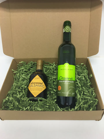 Aged Olivewood Balsamic & Olive Oil Gift Box