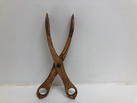 Olive Wood Salad Tongs - Mediterra