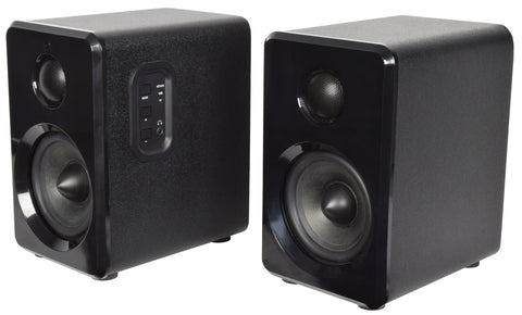 Active Bluetooth Bookshelf Speakers Black