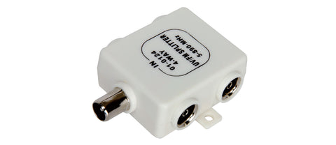 4 Way Coaxial Signal Splitter 4 Sockets to One Plug