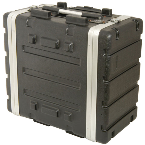 6U ABS 19 Inch rack trolley case