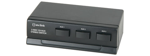 3 Way Stereo CD AUX switch