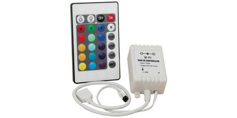 RGB Controller for LED tape with IR remote control