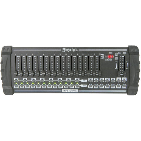 QTX DM X16 192 Channel DMX Lighting Controller