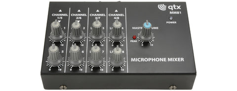 8 Channel Mini Microphone Mixer