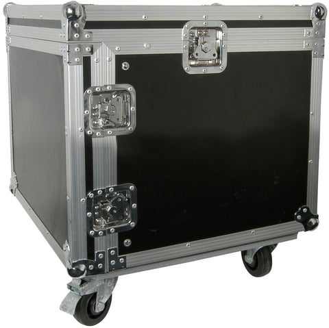 8U 19 Inch rack case with wheels