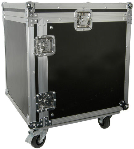 10U 19 Inch rack case with wheels