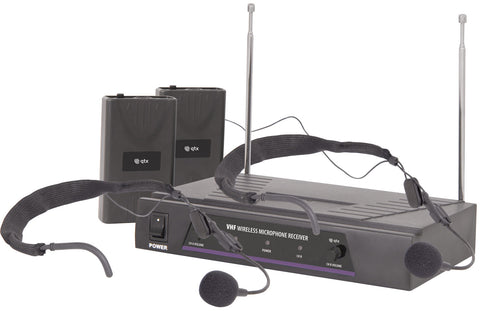 VHF dual neck-band wireless system 173.8 Plus 174.8MHz