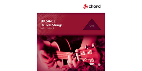 Set of 4x Clear Ukulele Strings