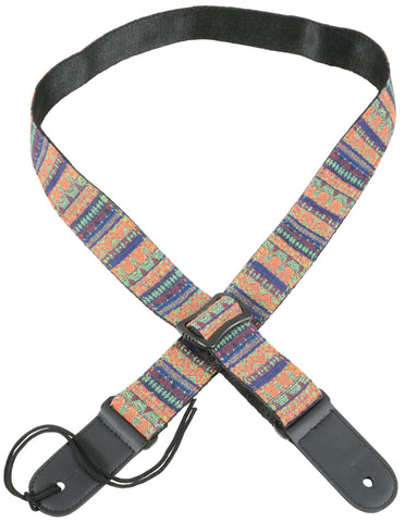 Ukulele Strap Orange Green Red