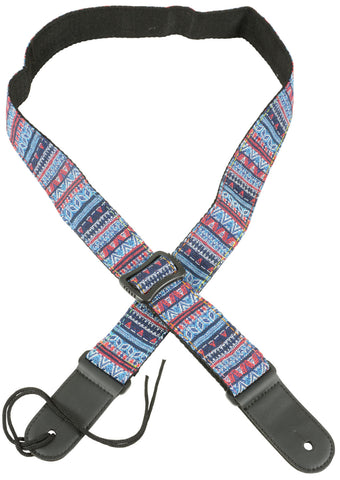 Ukulele Strap Blue Red Blue