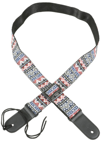 Ukulele Strap Red White Blue