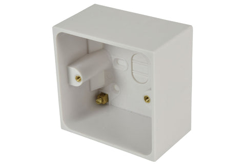 WA29 Single Gang Surface Back Box 50mm