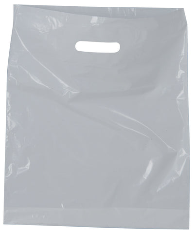 White Carrier Bag 380 x 457 x 75mm 15 Inch x 18 Inch x 3 Inch approx 30 microns