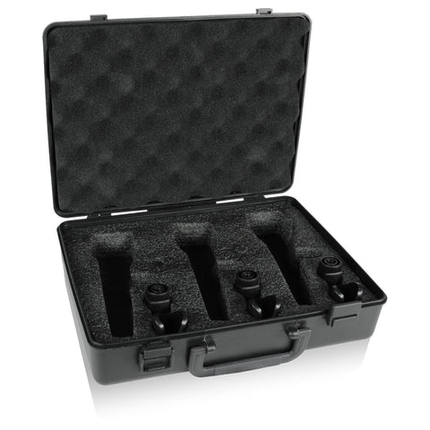 Behringer ABS Black Plastic Microphone Case to Hold 3 Mics and 3 Clips
