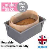Reusable Loaf Tin Liner For 1lb And 2lb Tins Alternative To Parchment Paper