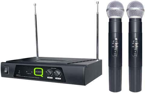 Cheap Value Balanced VHF Dual Wireless Radio Mic Microphone System