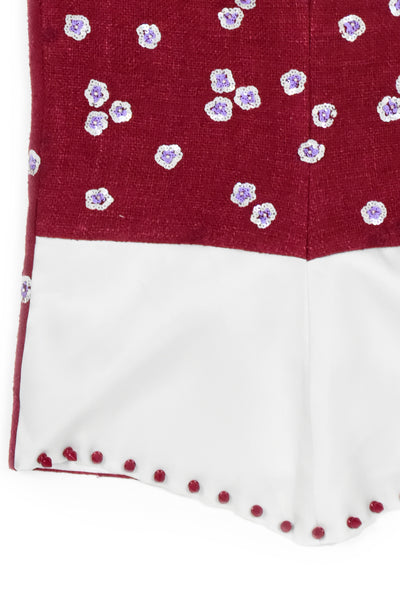Embroidery flowers skirt