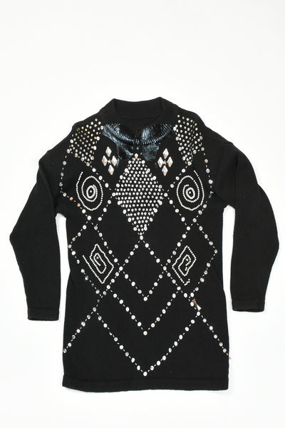 Hand embroidery sweater dress