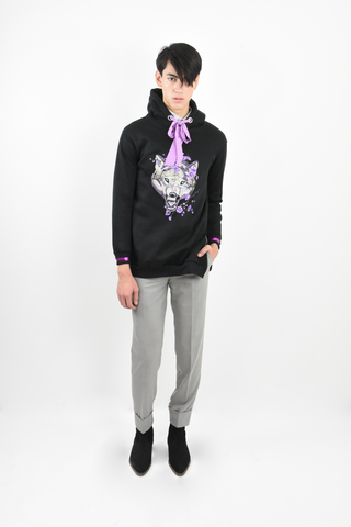 Wolf embroidery Sweatshirt