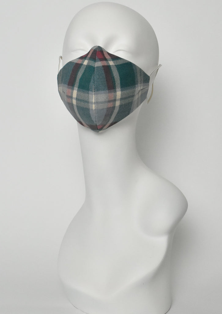 Grunge-couture plaid mask