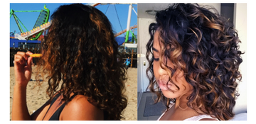 Alexandra's curly transformation. Bounce Curl hair blog.