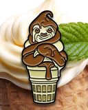 Soft Serve Sloth Enamel Pin