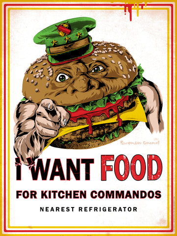 """I WANT FOOD"" Food Fighters APs"