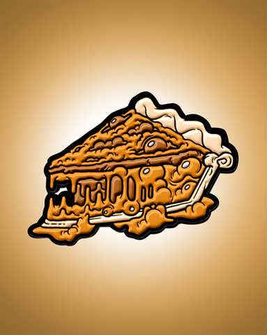 Pumpkin Croco-PIE-L Enamel Pin