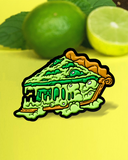 Key Lime Croco-PIE-L Enamel Pin
