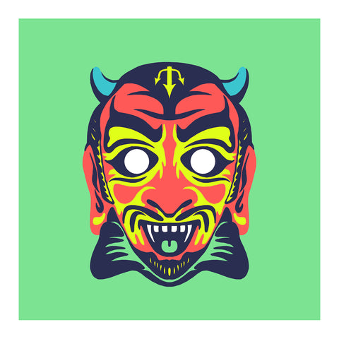 "Maskerade - Satan 6"" x 6"" Mini Screen-Print"