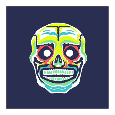 "Maskerade - Señor Skull 6"" x 6"" Mini Screen-Print"