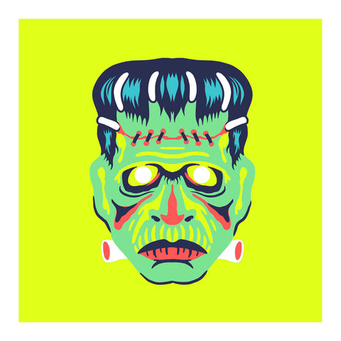 "Maskerade - Franc 6"" x 6"" Mini Screen-Print"