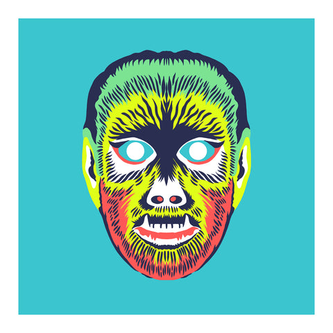 "Maskerade - VVolf 6"" x 6"" Mini Screen-Print"