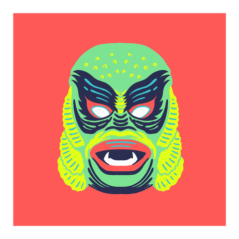 "Maskerade - Creech 6"" x 6"" Mini Screen-Print"