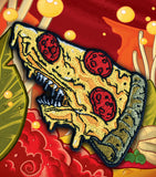 Pizza Shark Embroidered Patch