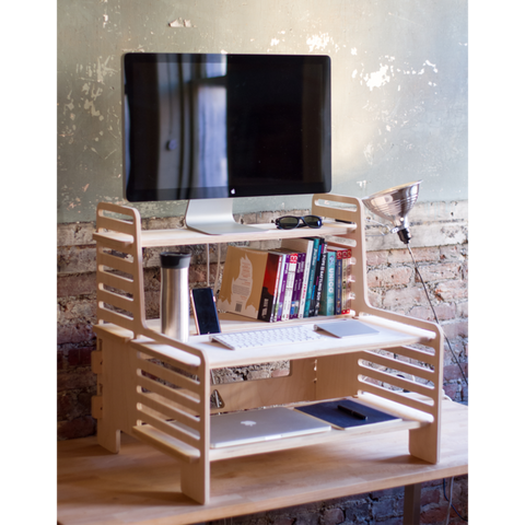 UpStanding Desk: extra shelves
