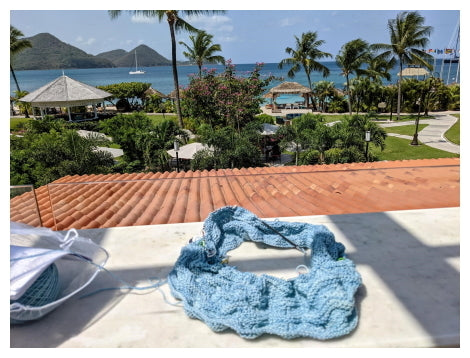 Knitting on vacation