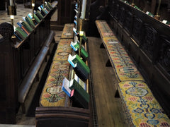 Winchester Cathedral Choir Stall Cushions