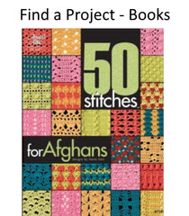 Find a project in a crochet book