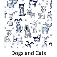 Dogs and Cats Fabric