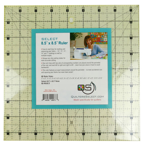 "Quilters Slect 8.5""x8.5"" Ruler"