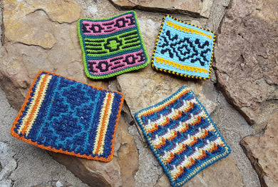 Native American Potholders Booklet/ Yarn Crochet Kit