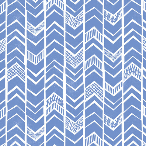 Blue Block Chevron