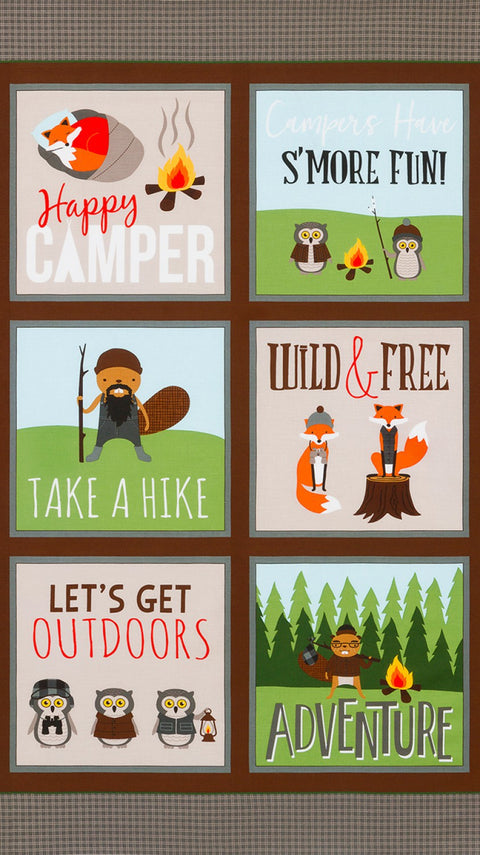 "Lake Campsite Critters 24"" Panel"